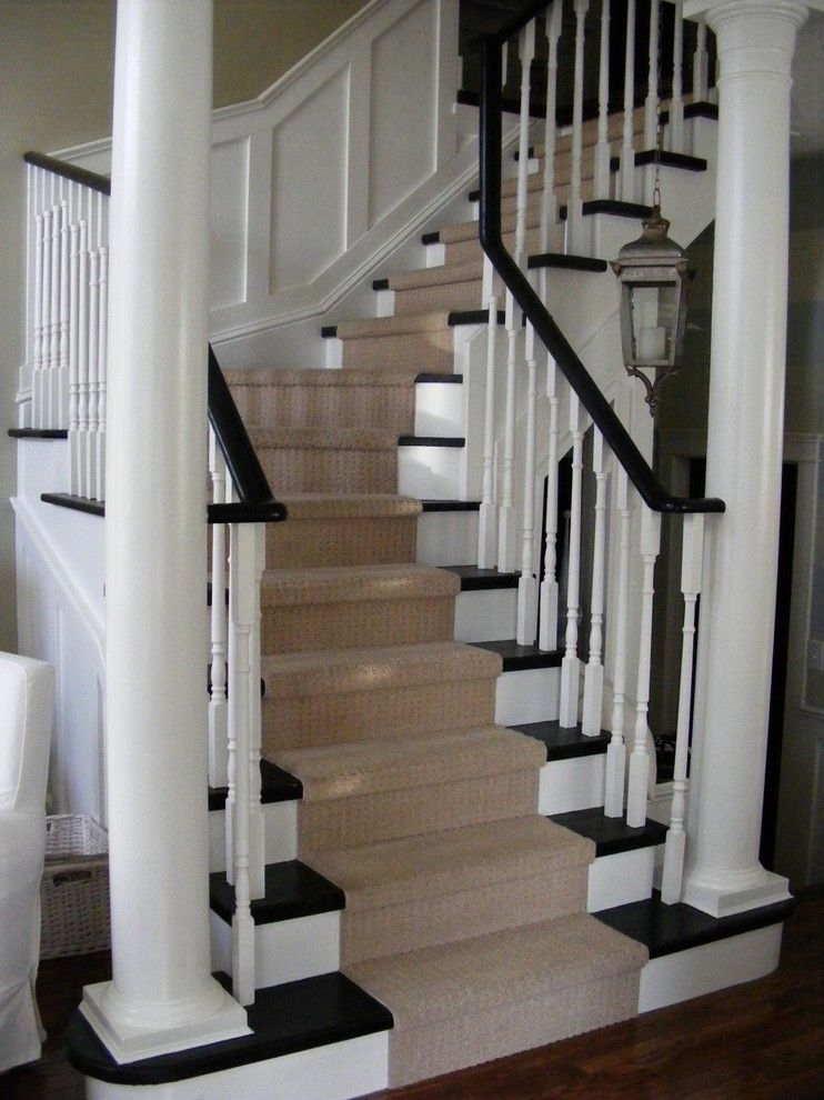 Airbase Carpet Mart for a Traditional Staircase with a Wood Columns and Classic Stairs with Panelling by Chris  Kauffman