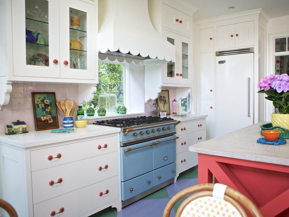 Airco Mechanical for a Eclectic Kitchen with a Window Ledge and Beach Cottage by Alison Kandler Interior Design