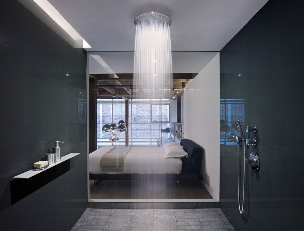 Aireco Supply for a Contemporary Bathroom with a Hansgrohe Raindance and the Huot Residence in the Oriental Warehouse by Hansgrohe Usa