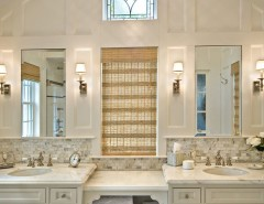 Aireco Supply for a Traditional Bathroom with a Double Sinks and Diana Bier Interiors, LLC by Diana Bier Interiors, LLC