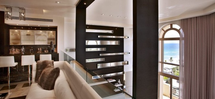 Akoya Miami Beach for a Contemporary Family Room with a Downtown and PepeCalderinDesign - Miami Modern - Interior Designers  - Hollywood Penthouse by Pepe Calderin Design- Modern Interior Design