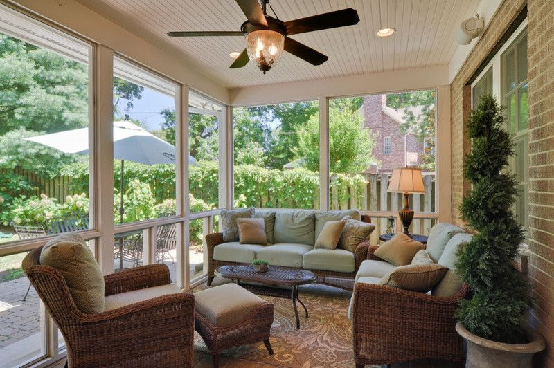 Alabama Furniture Market for a Traditional Patio with a Porch and Valley Rd. Patio by the Kingston Group   Remodeling Specialists