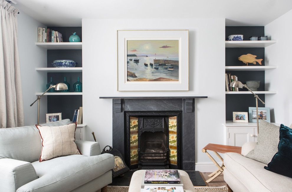 Alcove Definition for a Beach Style Living Room with a Contemporary and Beach House   Cornwall by Wickenden Hutley