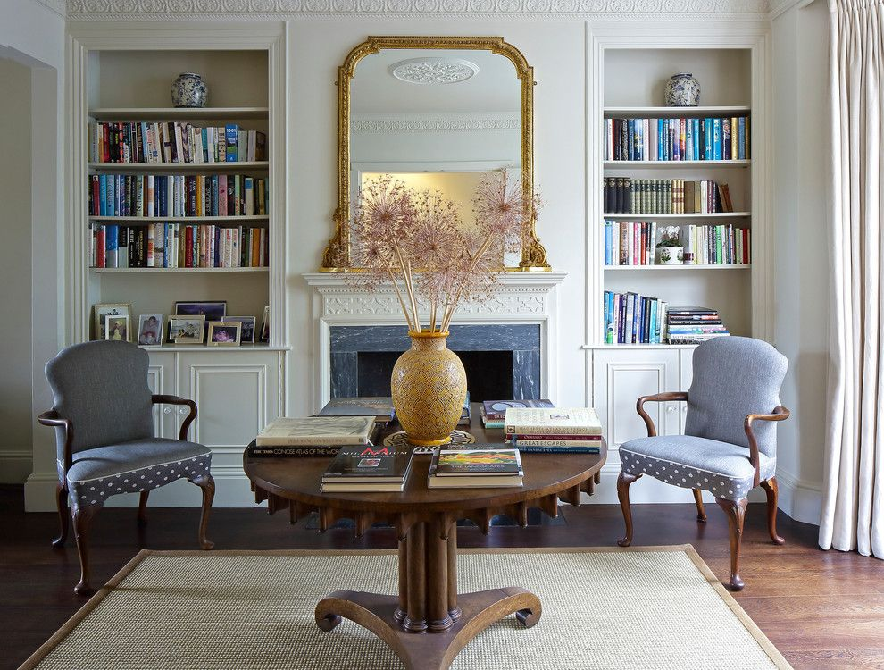 Alcove Definition for a Victorian Living Room with a Chairs and London Family Residence by Susan Fisher Photography