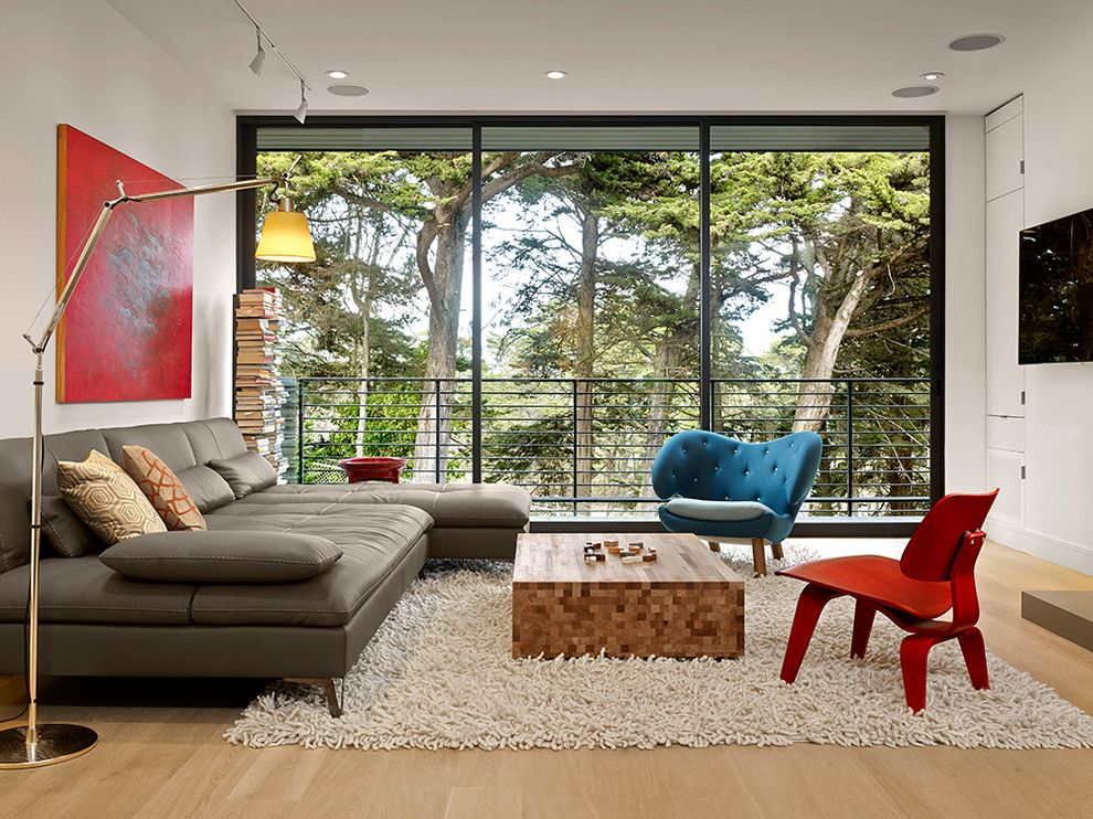 Alden San Francisco for a Contemporary Living Room with a Balcony and Douglass Park, Azevedo Design by American Institute of Architects, San Francisco