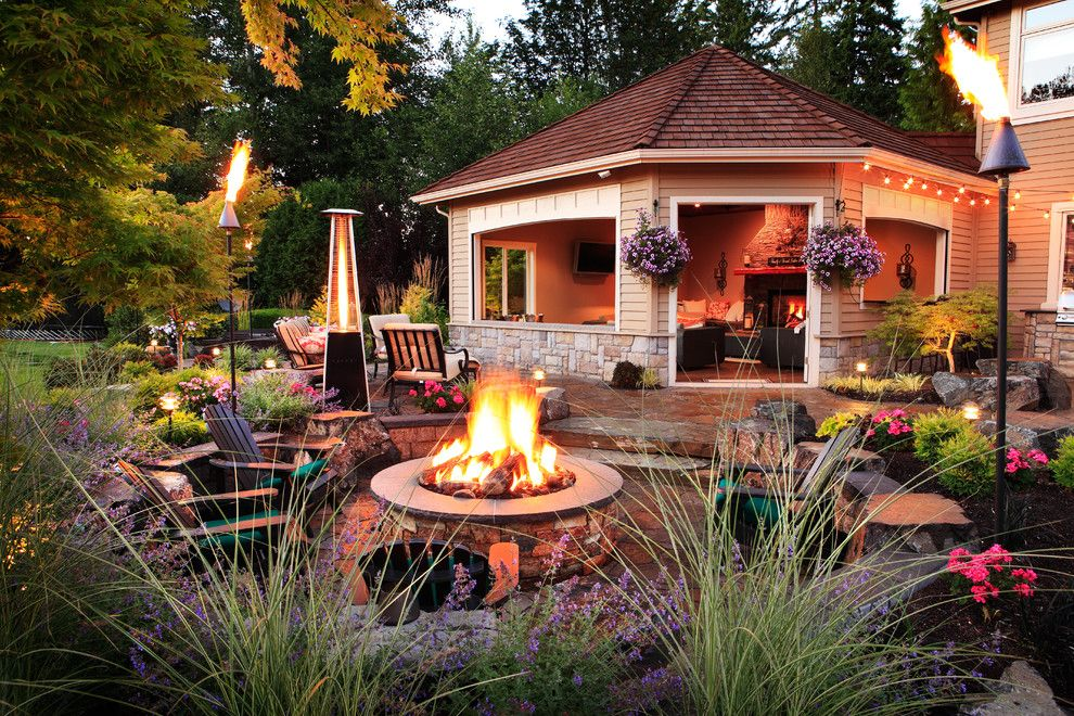 Alderwood for a Traditional Patio with a Indoor Outdoor Living and Winsor Greens Outdoor Resort Living by Alderwood Landscape Architecture and Construction