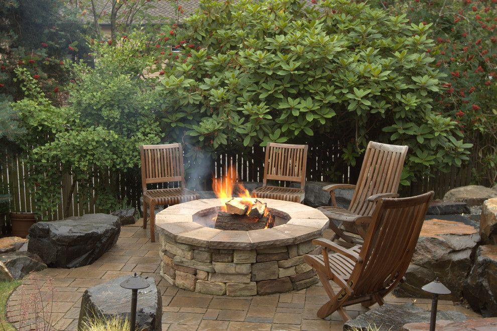 Alderwood for a Traditional Patio with a Seating and Fire Features by Alderwood Landscape Architecture and Construction