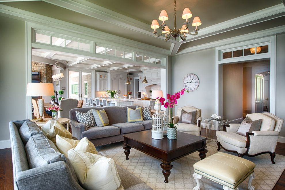 Alexa Hampton for a Traditional Living Room with a Fresh and Ferndale by Studio M Interiors