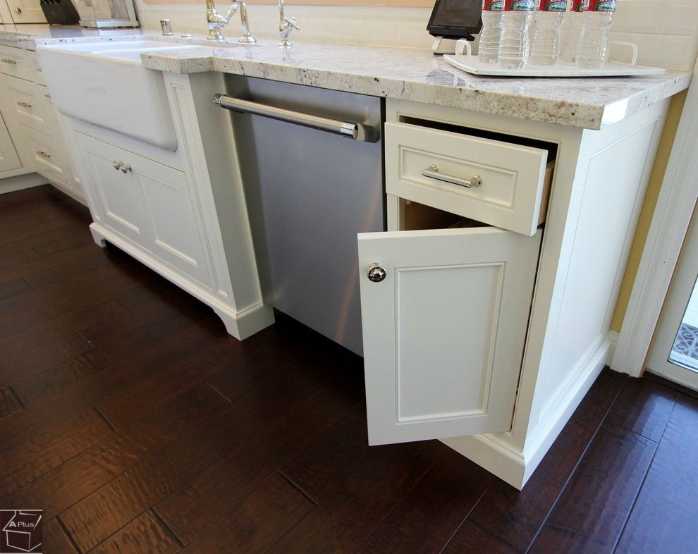 Aliso Viejo Theater for a Transitional Kitchen with a Farmhouse Sink and 63   Aliso Viejo Kitchen Remodel with Brand New Dry Bar & Custom Cabinets by Aplus Interior Design & Remodeling