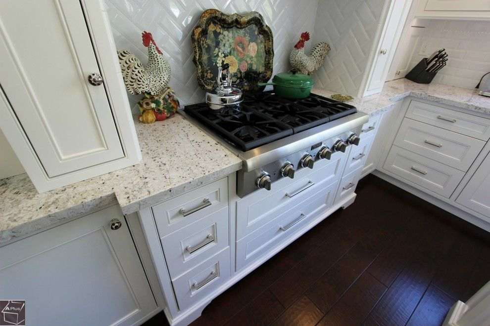 Aliso Viejo Theater for a Transitional Kitchen with a Subway Tile and 63   Aliso Viejo Kitchen Remodel with Brand New Dry Bar & Custom Cabinets by Aplus Interior Design & Remodeling