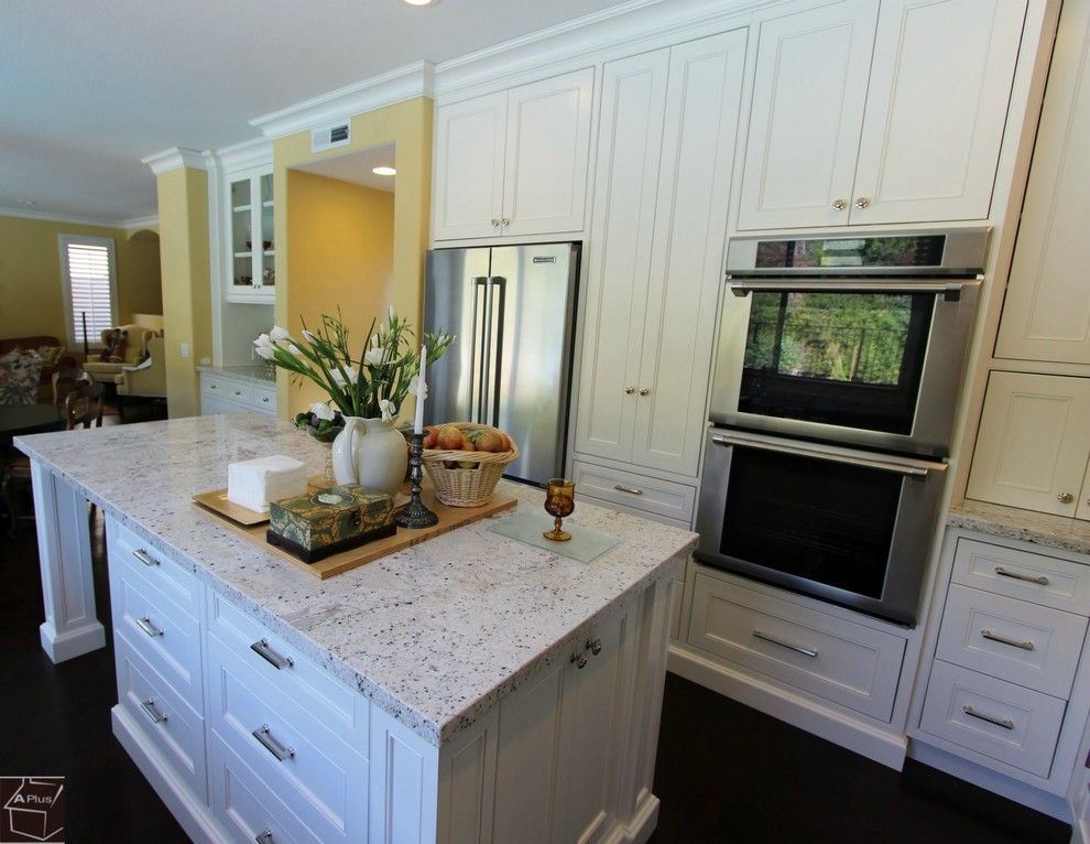 Aliso Viejo Theater for a Transitional Kitchen with a White Kitchen and 63   Aliso Viejo Kitchen Remodel with Brand New Dry Bar & Custom Cabinets by Aplus Interior Design & Remodeling