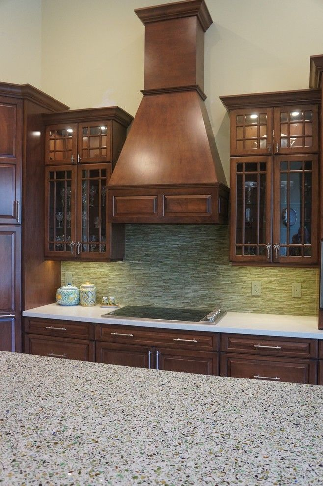 Allied Refrigeration for a Traditional Kitchen with a Sub Zero and Glass Kitchen Cabinets by Allied Kitchen and Bath