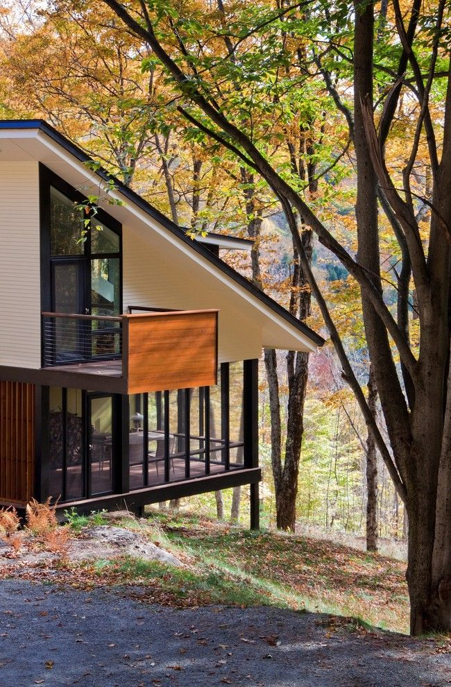 Allside for a Contemporary Exterior with a Roof Line and Hillside House Screened Porch by Gossens Bachman Architects