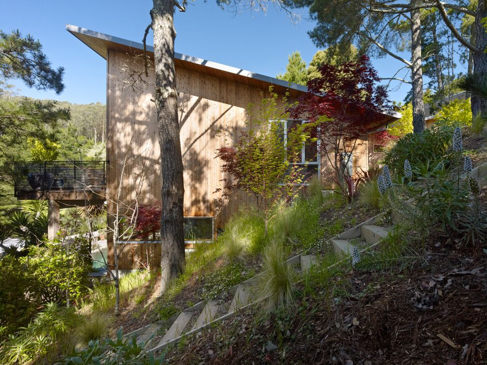 Allside for a Rustic Exterior with a Outdoor Steps and Mill Valley House by Yamamar Design