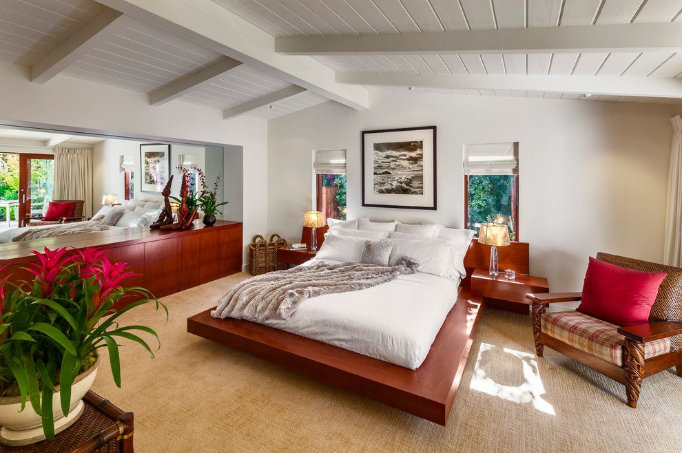 Alltex for a Midcentury Bedroom with a Built in Bed and Villa Vicin' 'O Mare by Allen Construction
