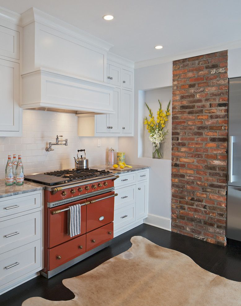 Alltex for a Traditional Kitchen with a Dark Wood Flooring and Shaw Row House Remodel by Allenbuilt, Inc.