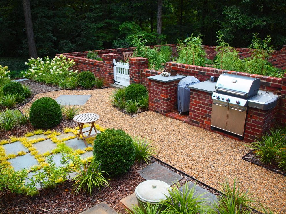 Alltex for a Traditional Landscape with a Outdoor Kitchen and Culinary Garden by J a L A, Jeff Allen Landscape Architecture