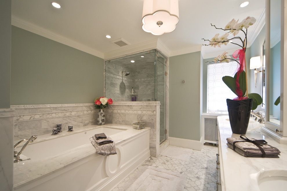 Alltex for a Transitional Bathroom with a Bath Mat and Kalorama, Nw, Dc. Whole House Remodel by J Allen Smith Design/build