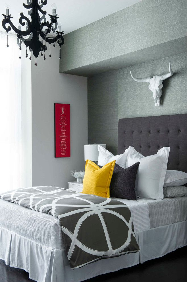 Alltex for a Transitional Bedroom with a Neutral and Tina Marie Interiors High Rise Condo by Stephen Allen Photography