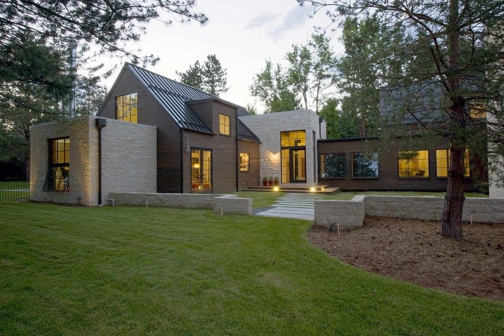 Alpine Snow Guards for a Farmhouse Exterior with a Pool House and Folly Farm by Surround Architecture, Inc.