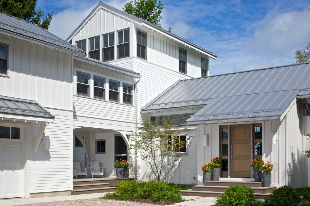 Alpine Snow Guards for a Traditional Exterior with a Clerestory Windows and Northern Michigan Treasure by Scott Christopher Homes
