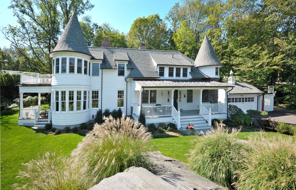 Alpine Snow Guards for a Victorian Exterior with a Conical Roof and Queen Anne Victorian Addition/alteration (Greenwich, Ct) by Demotte Architects