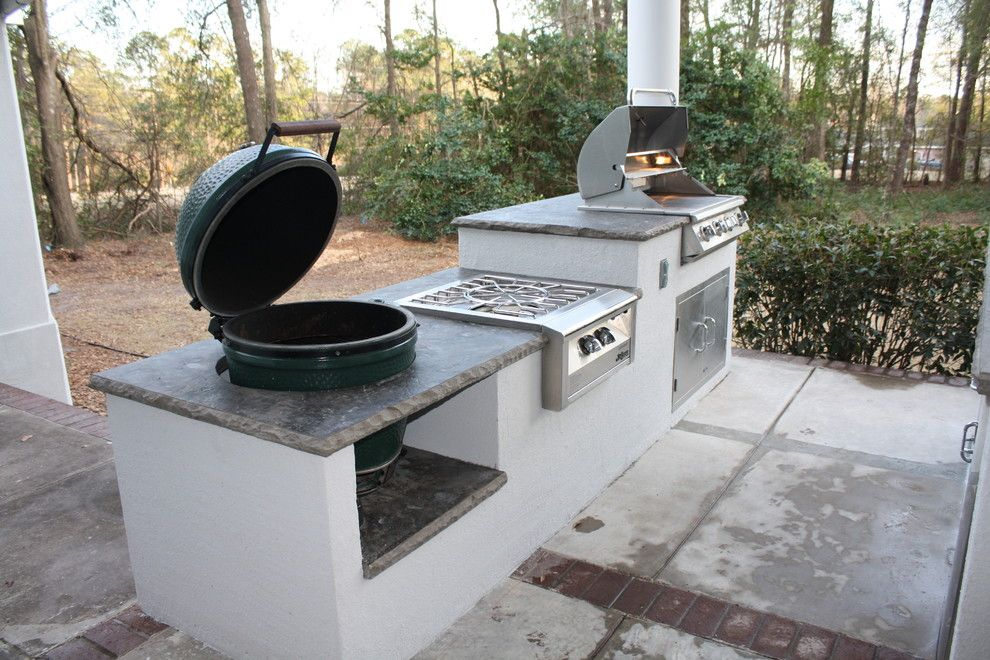 Alys Beach Florida for a Contemporary Patio with a Big Green Egg and Alys Beach Florida by My Outdoor Rooms