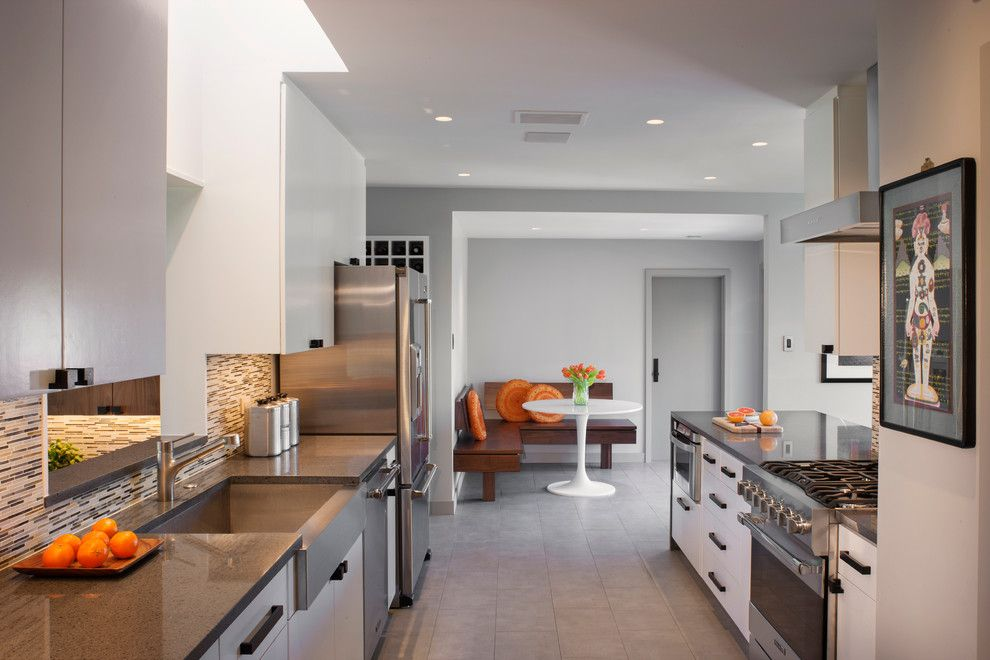 Amaron for a Transitional Kitchen with a Stainless Steel Appliances and Balcones Modern Residence   After by Steinbomer, Bramwell & Vrazel Architects