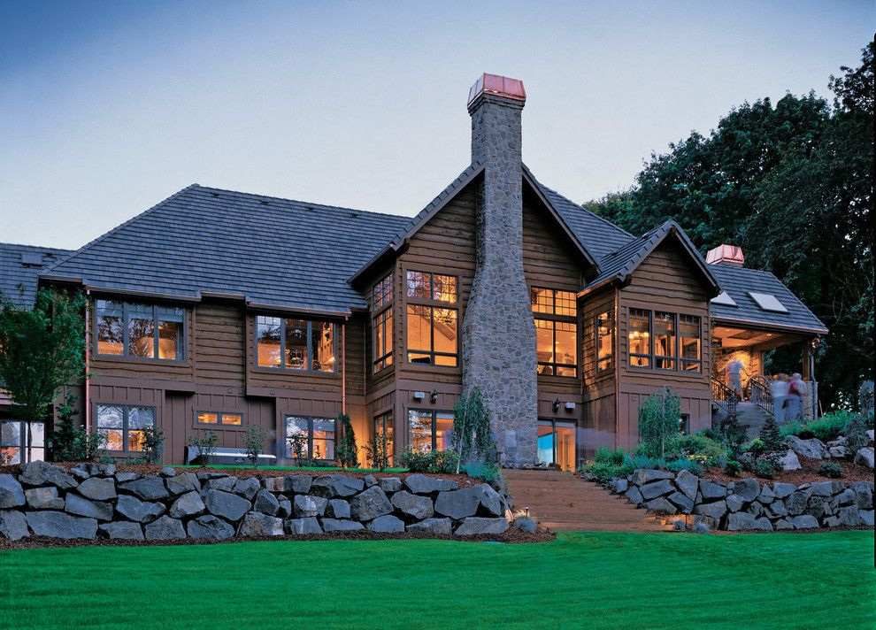 Amazing Homes for a Rustic Exterior with a Grass and Western Ranch by Alan Mascord Design Associates Inc