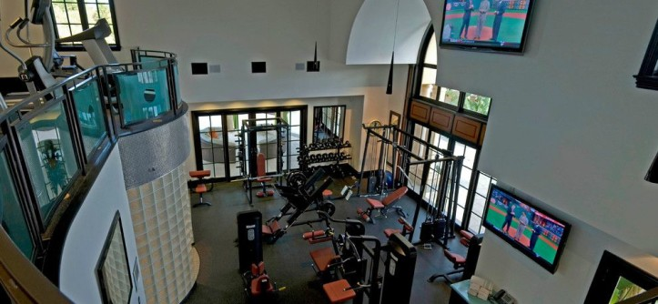 Amazing Homes for a Traditional Home Gym with a 2 Story Home Gym and French Style Custom Estate Featured on HGTV by Arc Design Group