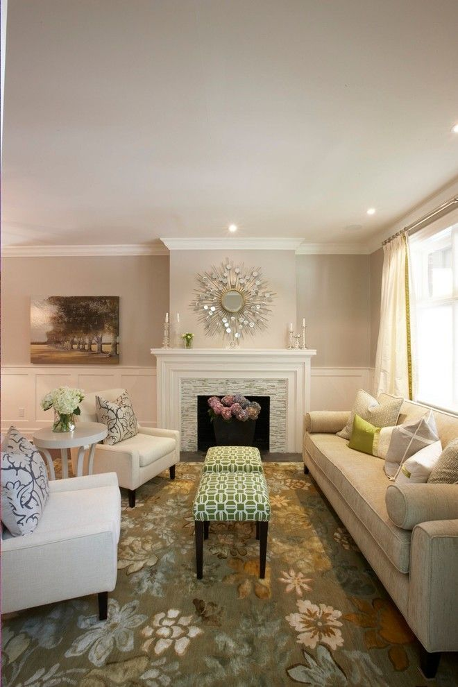 Amazing Homes for a Transitional Living Room with a Wall Art and Trickett Living Room by Meredith Heron Design