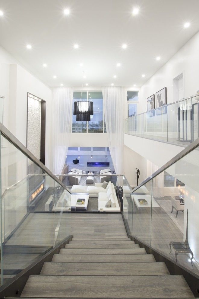 Amc Fort Lauderdale for a Contemporary Staircase with a Luxury and Contemporary Home in Fort Lauderdale by Britto Charette   Interior Designers Miami , Fl