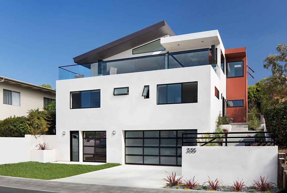 American Exteriors for a Contemporary Exterior with a Orange Accent Color and Contemporary Exterior by Studio anderson.com