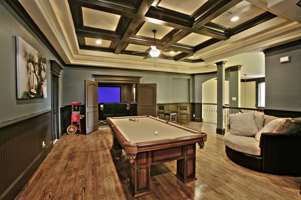 American Heritage Billiards for a Eclectic Home Theater with a Eclectic and Game Room by Craig Fuller