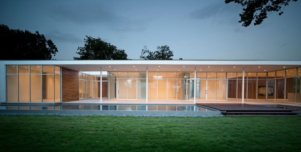 American Heritage Billiards for a Modern Exterior with a Back Lawn and Oldrange Family Home by Nimmo American Studio for Progressive Architecture