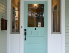Americas Mailbox for a Modern Entry with a Robins Egg Blue and Oakland by Round Here Renovations, LLC