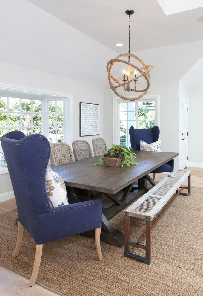 Amli South Shore for a Beach Style Dining Room with a Dining Bench and Dover Shores by Blackband Design