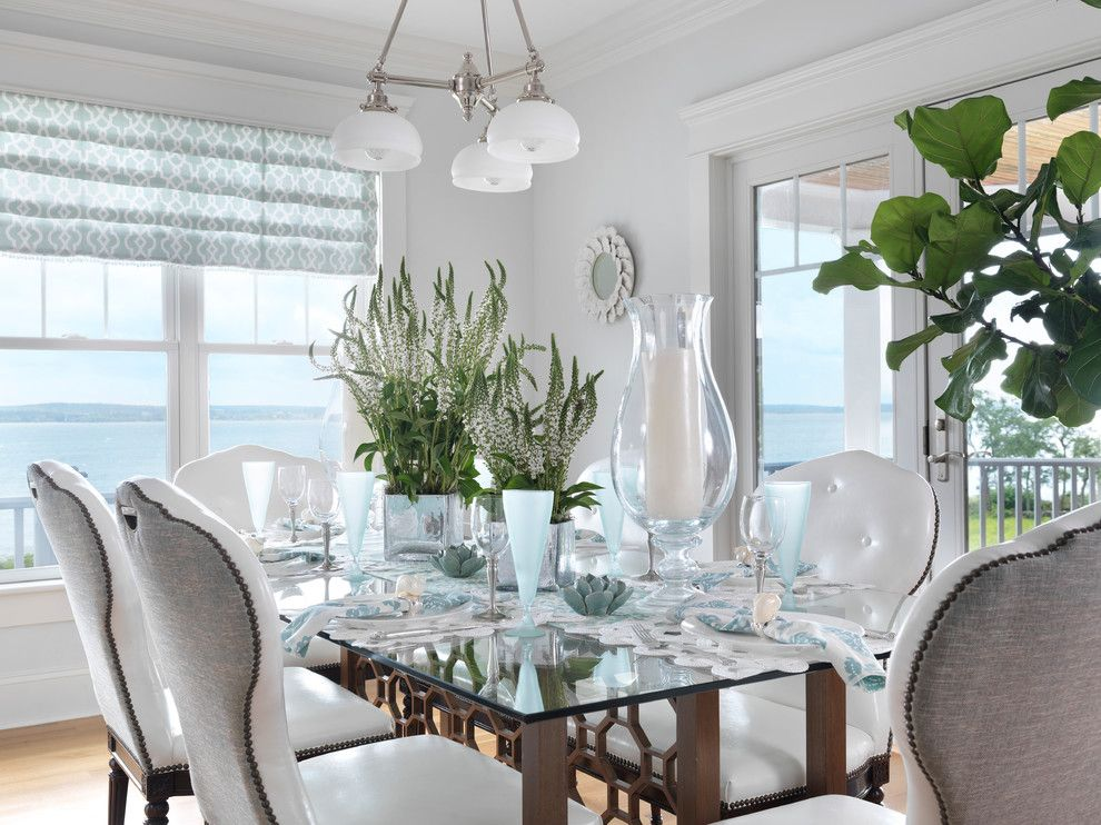 Amli South Shore for a Beach Style Dining Room with a White Wood and Long Shore Home by Digs Design Company