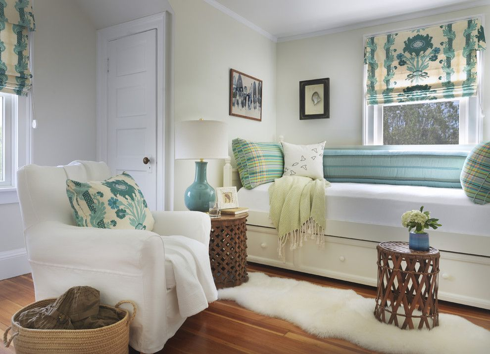 Ana White Loft Bed for a Beach Style Bedroom with a Runner Rug and Bedroom by Kate Jackson Design