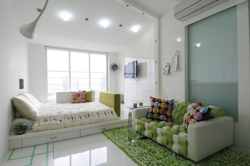 Ana White Loft Bed for a Contemporary Kids with a Boys Room and High End Residential Project at Malad. by Sonali Shah