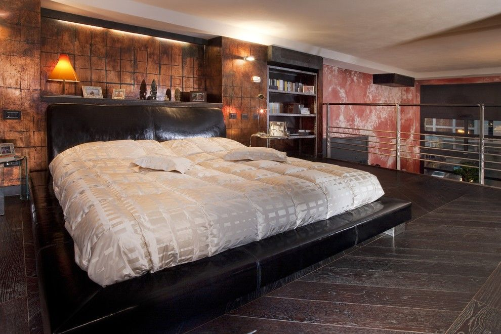 Ana White Loft Bed for a Industrial Bedroom with a Letto Matrimoniale and Bedroom by Marco Dellatorre