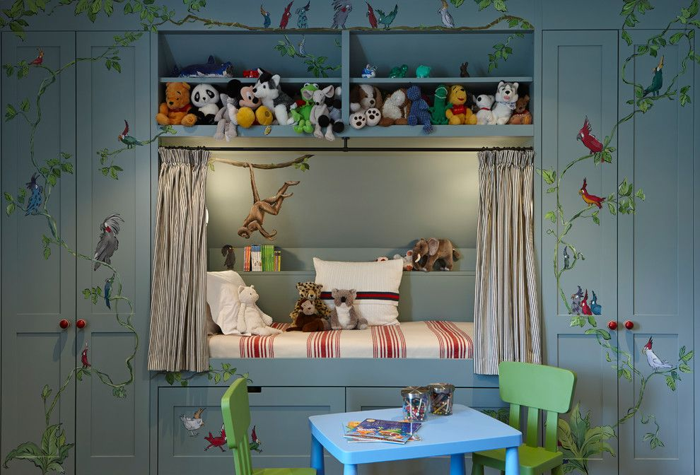 Ana White Loft Bed for a Traditional Kids with a Toy Storage and Traditional Kids by Charlottecrosland.com