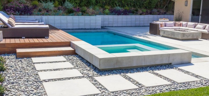 Angelus Block for a Contemporary Landscape with a Mod and Modern Minimalist by Dp Environments