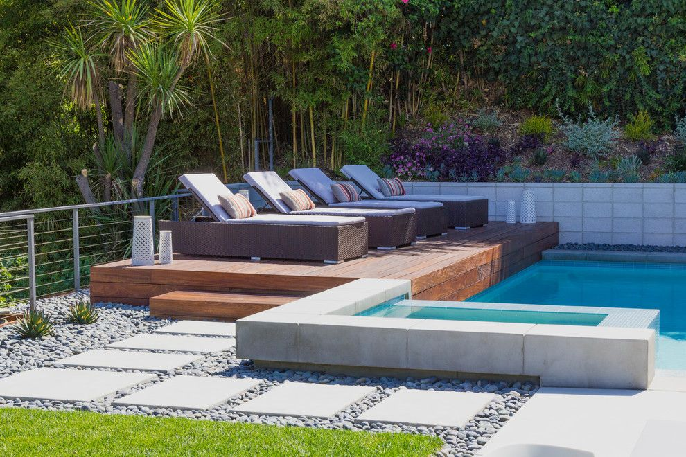 Angelus Block for a Contemporary Landscape with a Modern Landscape and Modern Minimalist by Dp Environments