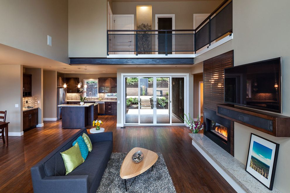 Anixter Center for a Contemporary Family Room with a Dining and Nw Inspired Crest Meadows Residence by Jordan Iverson Signature Homes