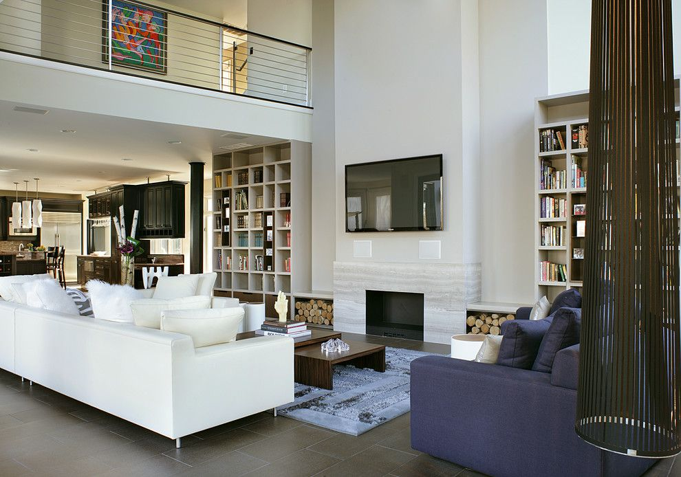 Anixter Center for a Modern Living Room with a Double Sided Fireplace and Holmdel Nj Residence by Yzda | Yoshida + Zanon Design Atrium
