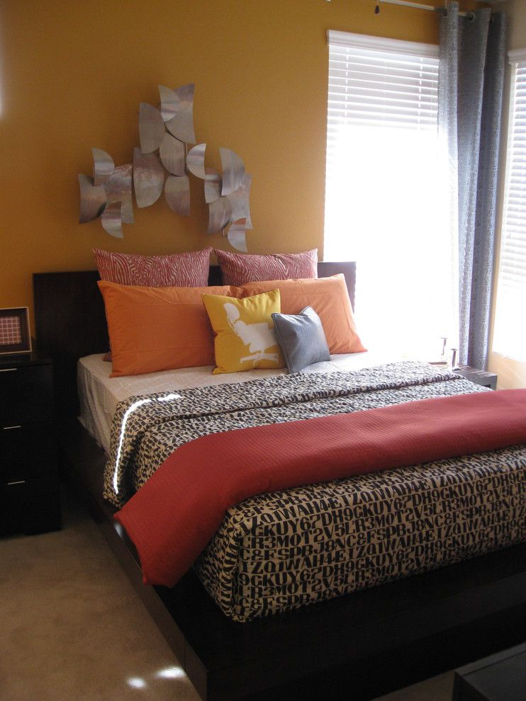 Anjou Pear for a Modern Bedroom with a Yellow and Michelle Salz Smith, Asid, Cid by Michelle Salz Smith, Asid, Cid, Ncidq