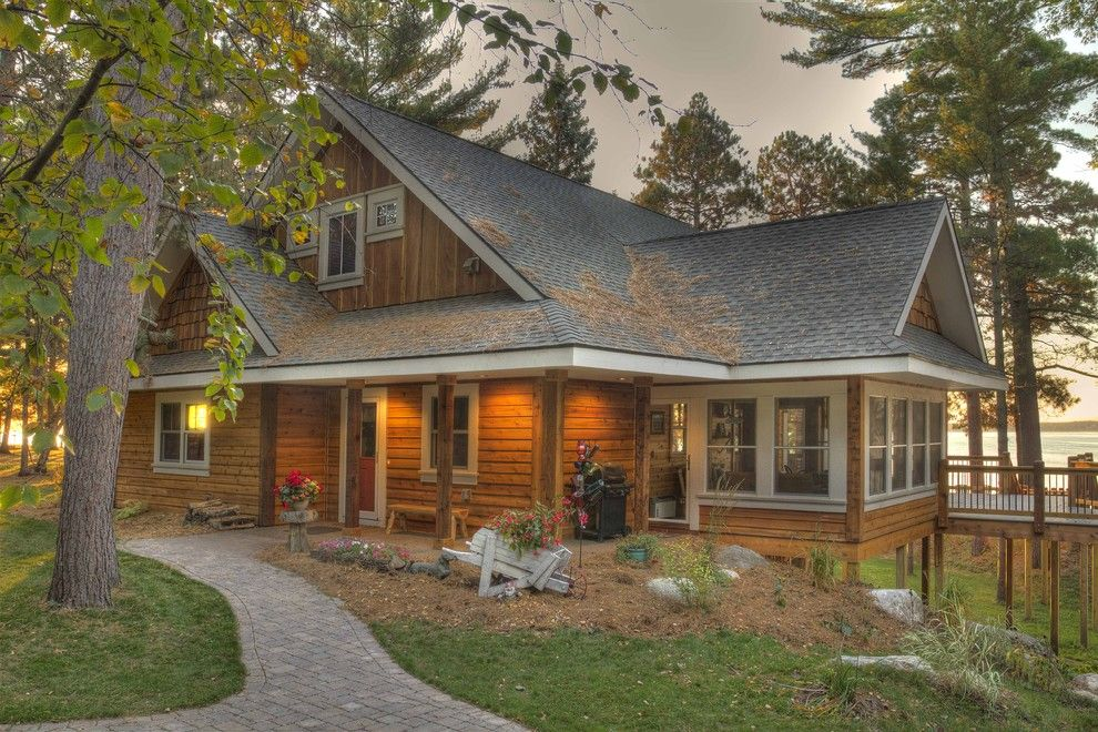 Appalachian Log Homes for a Rustic Exterior with a Entry and Exterior Entry by Lands End Development   Designers & Builders