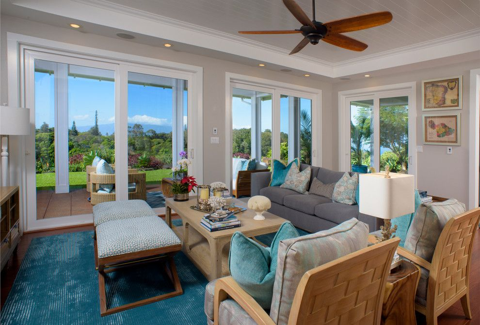 Aqua World for a Beach Style Living Room with a Wood Ceiling and Maui Commercial Photography by Joe D'alessandro Photography Inc., Maui