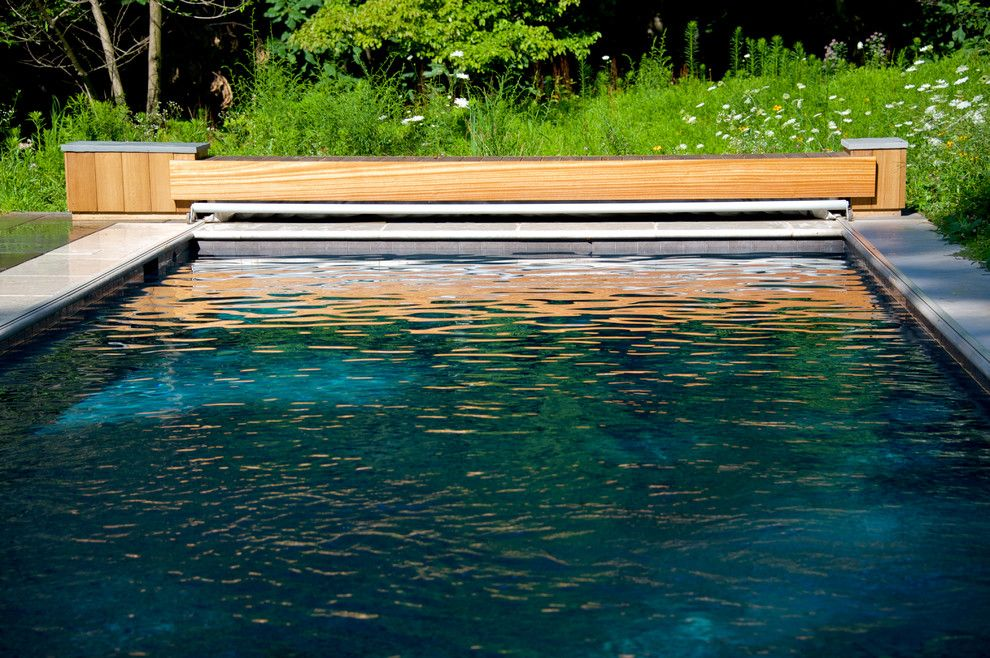 Aquatech for a Contemporary Pool with a Gunite and Geometric Elements   East Falls, Pa by Armond Aquatech Pools